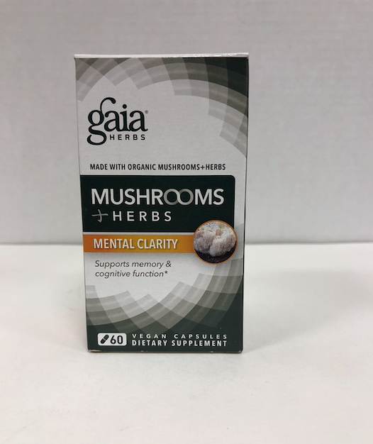 GAIA HERBS Mushrooms & Herbs Mental Clarity 60Vcaps