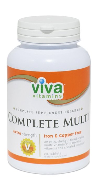 Complete Multi - Extra Strength Iron and Copper Free (210 Tabs)