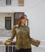 Load image into Gallery viewer, reSaree Boho Blouse - Fern