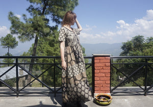 Patchwork Daydress - Blockprints + Recycled Soft Shirting
