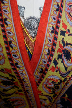 Load image into Gallery viewer, Large Art Shawl: Red Baroque