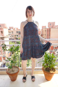 Demeter Dress- Indigo