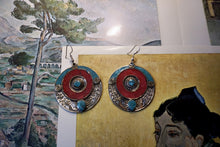 Load image into Gallery viewer, Discus Stone Earrings