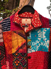 Load image into Gallery viewer, Kantha Patchwork Jacket - Bright Mirrors