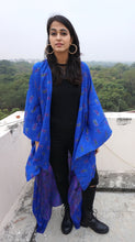 Load image into Gallery viewer, Sita Cape - Lapis Lazuli in Silk Crepe