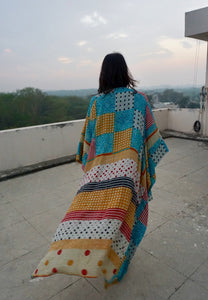 Sita Cape - Patch Print in Silk Crepe