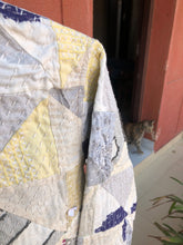 Load image into Gallery viewer, Kantha Patchwork Jacket - Ivory Sky