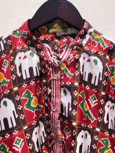 reSaree Boho Blouse - Elephant Parade