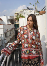 Load image into Gallery viewer, reSaree Boho Blouse - Elephant Parade