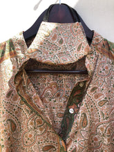 Load image into Gallery viewer, reSaree Boho Blouse - Paisley Forest