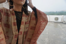 Load image into Gallery viewer, ReSaree Sita Cape - Sandalwood Paisley