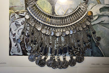 Load image into Gallery viewer, Coin + Chain Metal Statement Choker