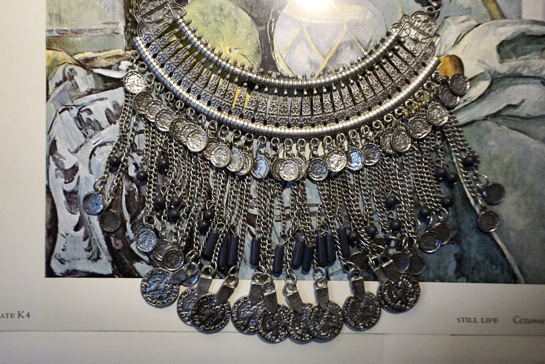 Coin + Chain Heavy Metal Indian Necklace