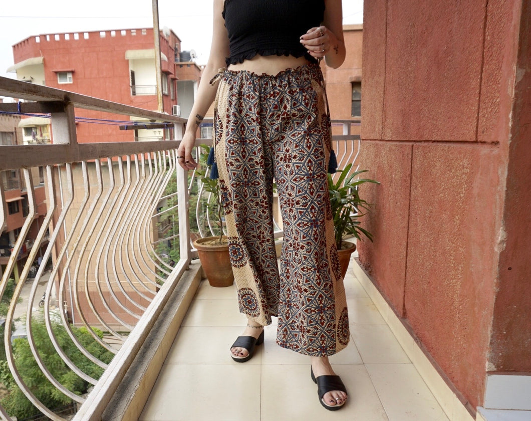 Panacea Pant - Porcelain (Side Wheel Print)