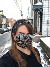 Load image into Gallery viewer, Duo Textile Matching Set Headband and Mask: Shimmer Indigo