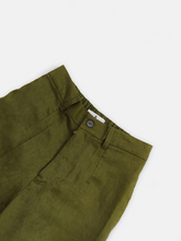 Load image into Gallery viewer, Jane Linen Trousers Moss Green
