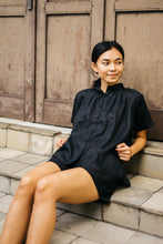 Load image into Gallery viewer, Plum Linen Shirt - Black