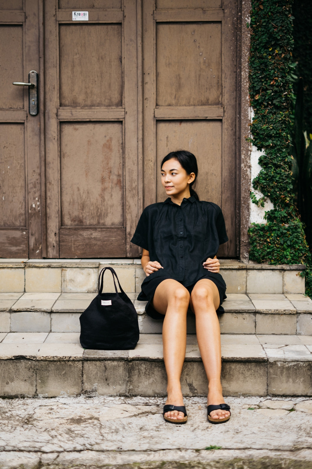 Kato Linen Bag - Black