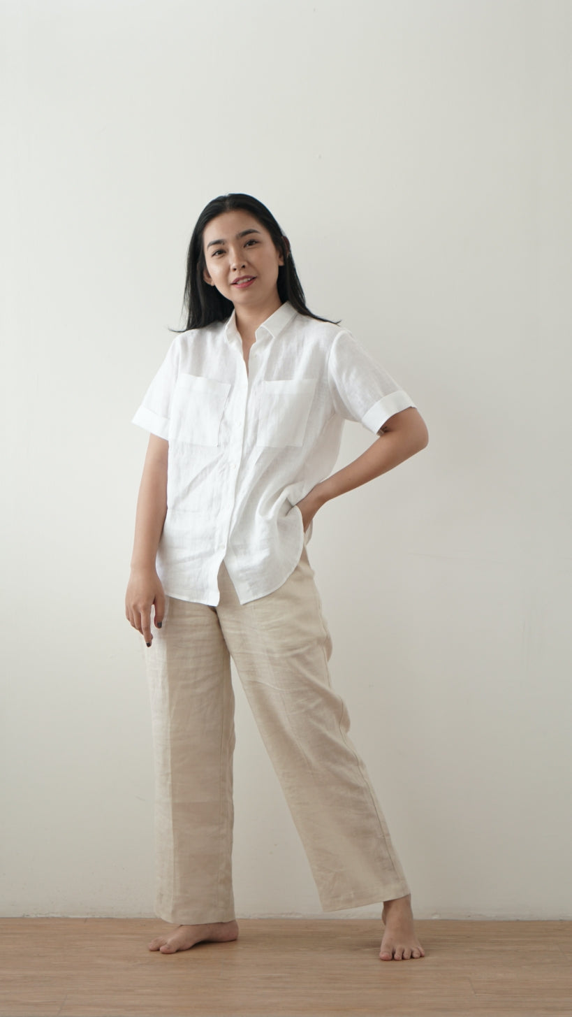 Hana Linen Short Sleeve Shirt