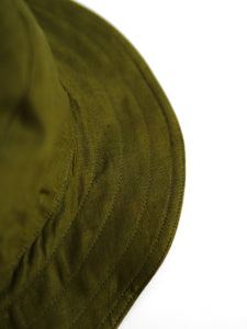 Linen Bucket Hat Moss Green