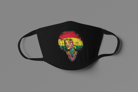 UNISEX AFRICAN ROYALTY FACE MASK