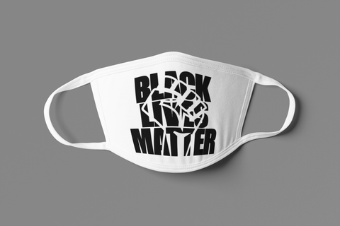 UNISEX BLM CUTOUT FACE MASK