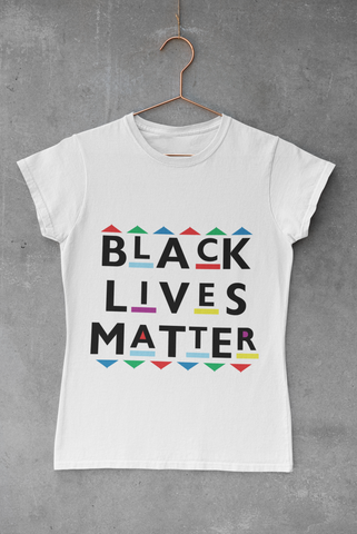 WOMEN'S BLM PATTERNS AND SHAPES T-SHIRT