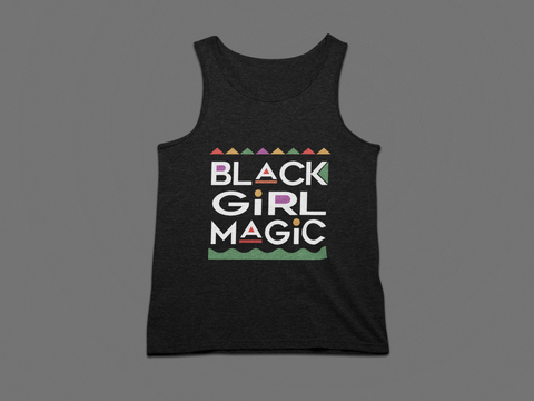 WOMEN'S BLACK GIRL MAGIC TANK TOP