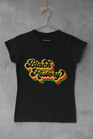 WOMEN'S BLACK HISTORY T-SHIRT