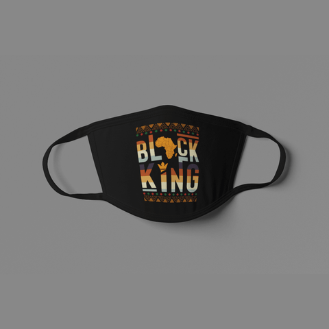 UNISEX BLACK KING FACE MASK