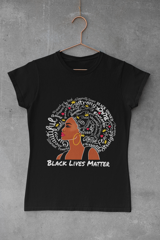 WOMEN'S BLM AFRO QUEEN T-SHIRT