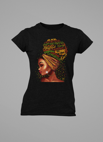 WOMEN'S PRETTY BROWN SKIN T-SHIRT