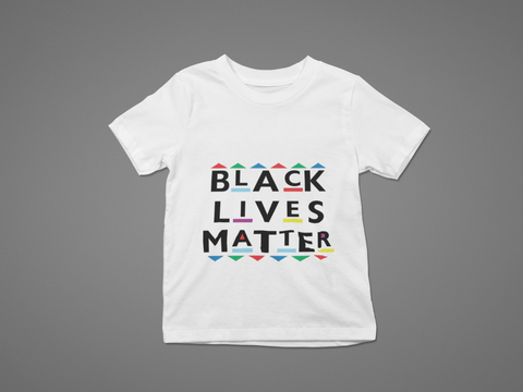 YOUTH BLM PATTERNS AND SHAPES T-SHIRT