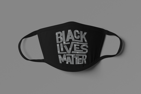 UNISEX SHINY BLM FACE MASK