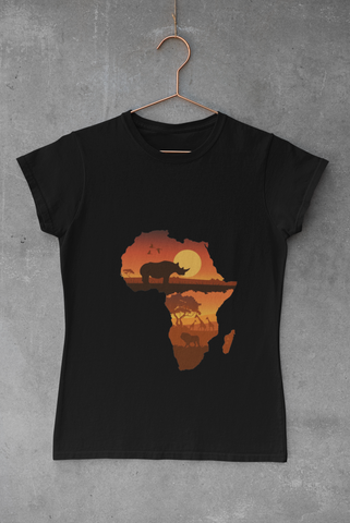 WOMEN'S AFRICAN SUNSET T-SHIRT