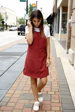 23d0529d5ec2e Here are some different ways of wearing the ever popular slip dress without  revealing too much. A white Tee under a slip dress always looks great!