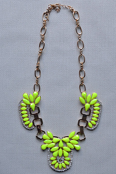 Bella Donna Necklace Neon Yellow