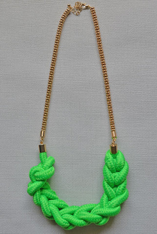 Half Moon Necklace Neon Green