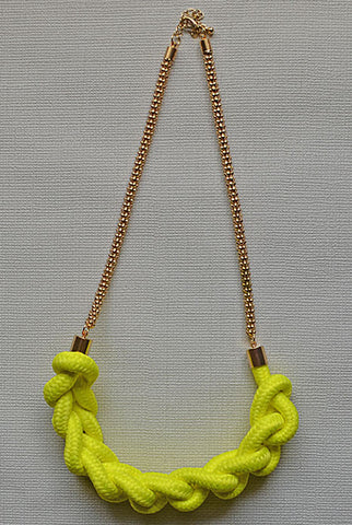 Half Moon Necklace Neon Yellow