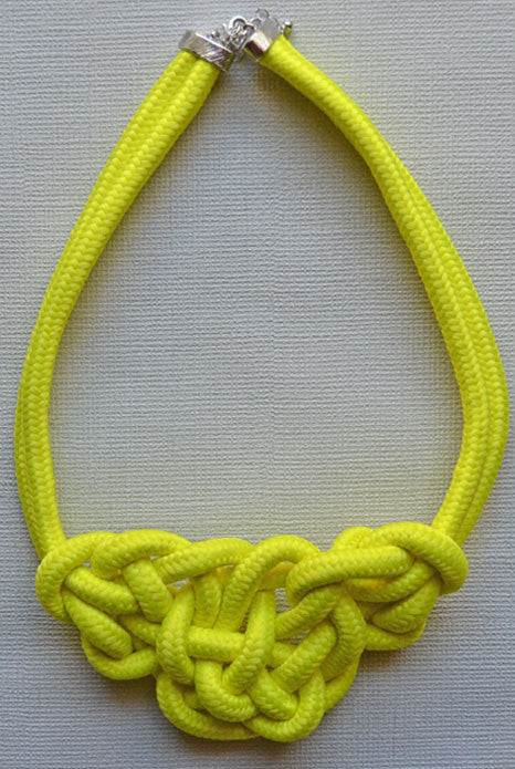 Knot Necklace Neon Yellow