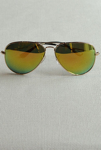 Aviator Sunglasses Gold