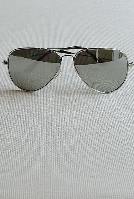Aviator Sunglasses Silver