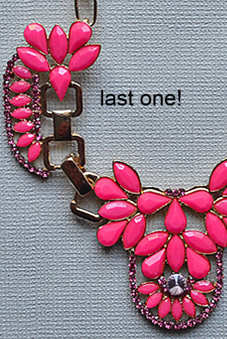 Bella Donna Necklace Neon Pink