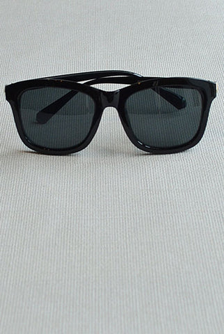 Retro Square Sunglasses Black