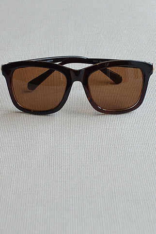 Retro Square Sunglasses Brown