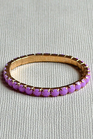 Diamonte Bracelet Purple