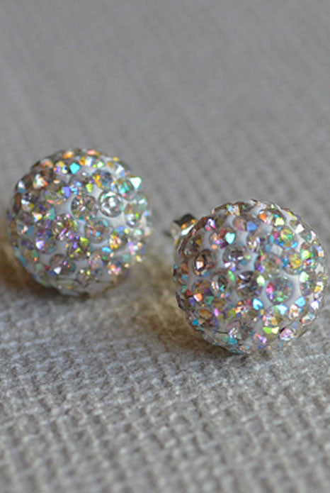 Crystal Ball Earrings Multi