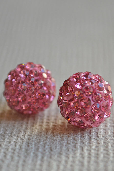 Crystal Ball Eearrings Rose