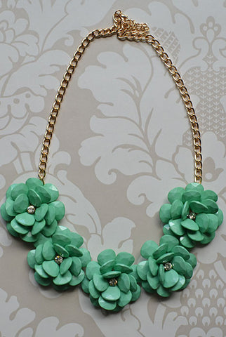 Spring Blossom Necklace Mint