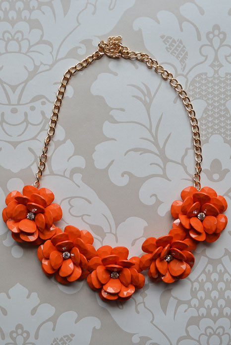Spring Blossom Necklace Orange